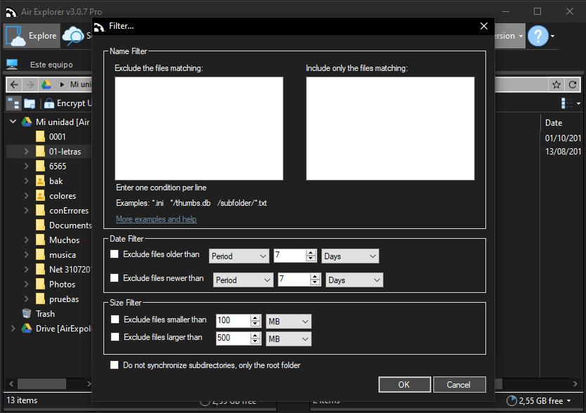 Air Explorer 3.7 Pro 如何排除同步中的文件?