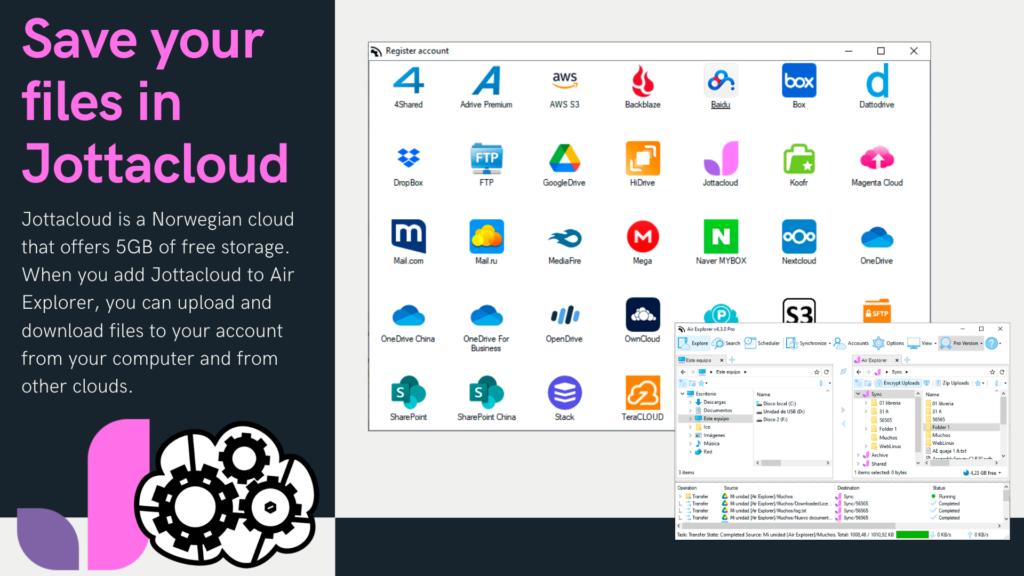 在 Air Explorer 如何保存云文件? Air Explorer添加Jottacloud 云保存您的文件?